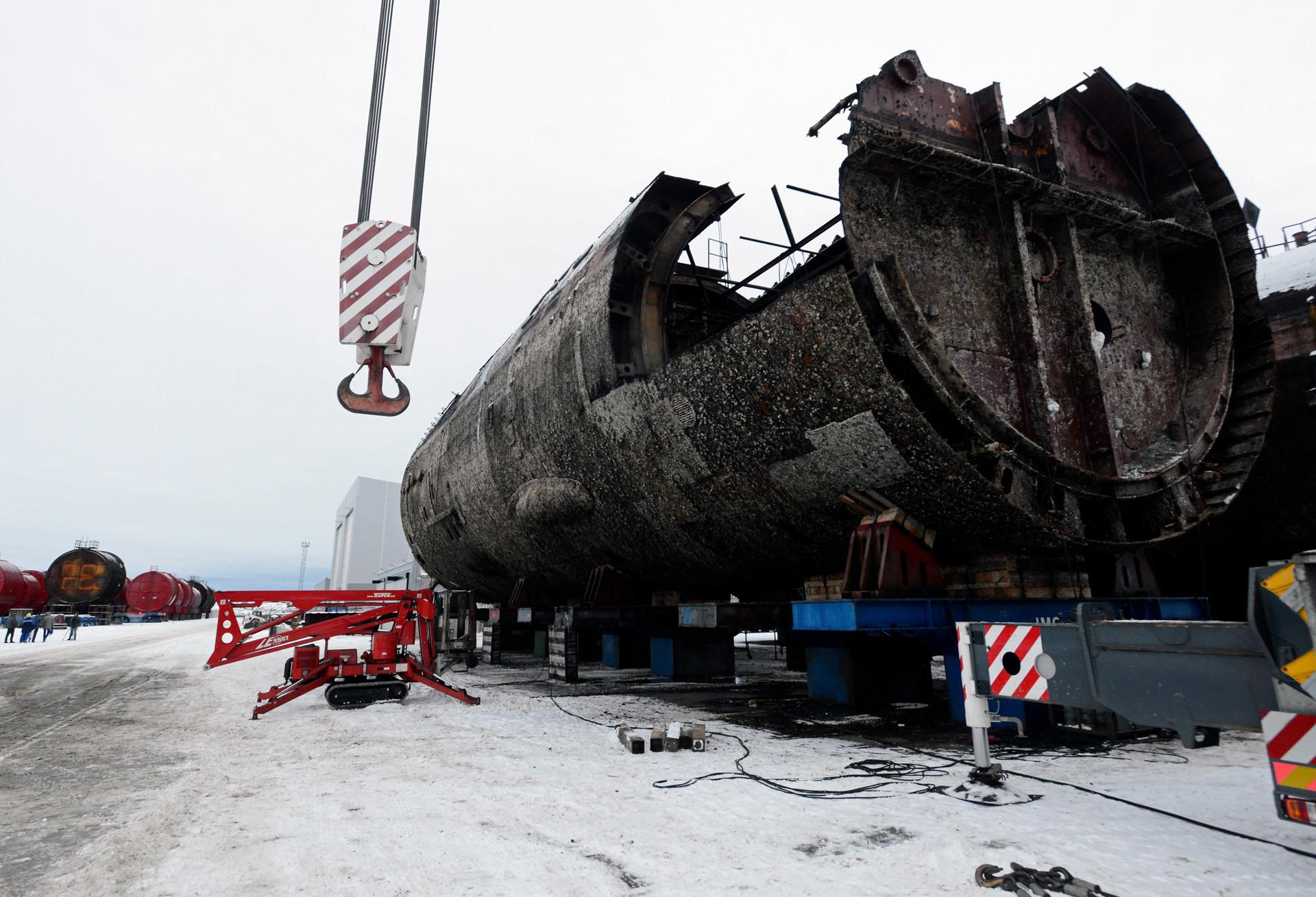 Una plataforma costera para almacenar bloques de reactores en la planta de reprocesamiento, acondicionamiento y almacenamiento de desechos radiactivos. Región de Múrmansk
