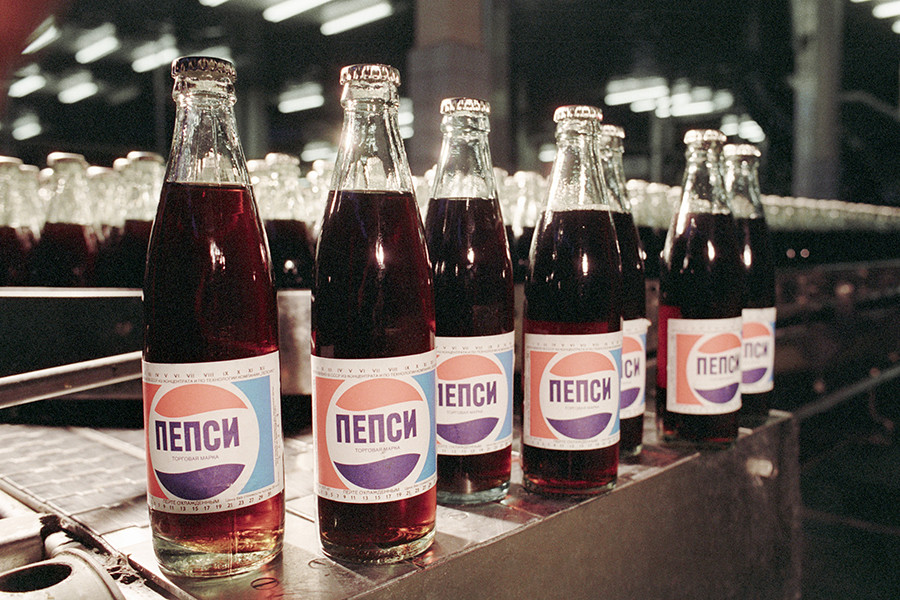 Pepsi from a Moscow-based plant, 1991.