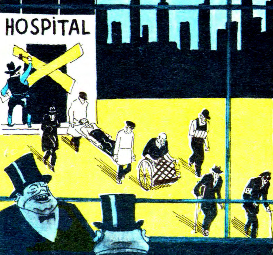 "Hospital. ""We have started the invigoration of our economy."""