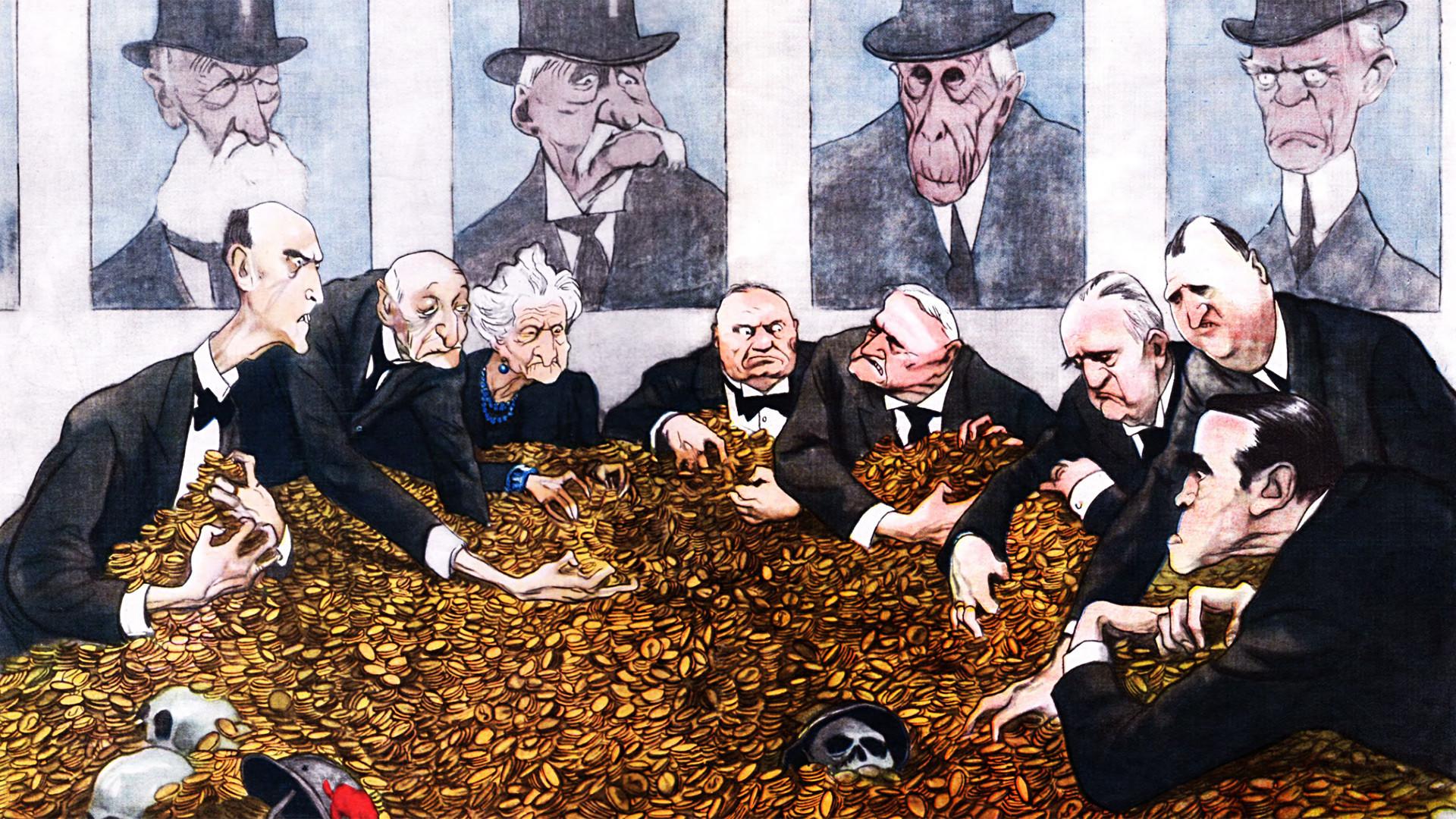 Foto Karikatur Salah Satu Cara Uni Soviet Menyindir Kapitalisme