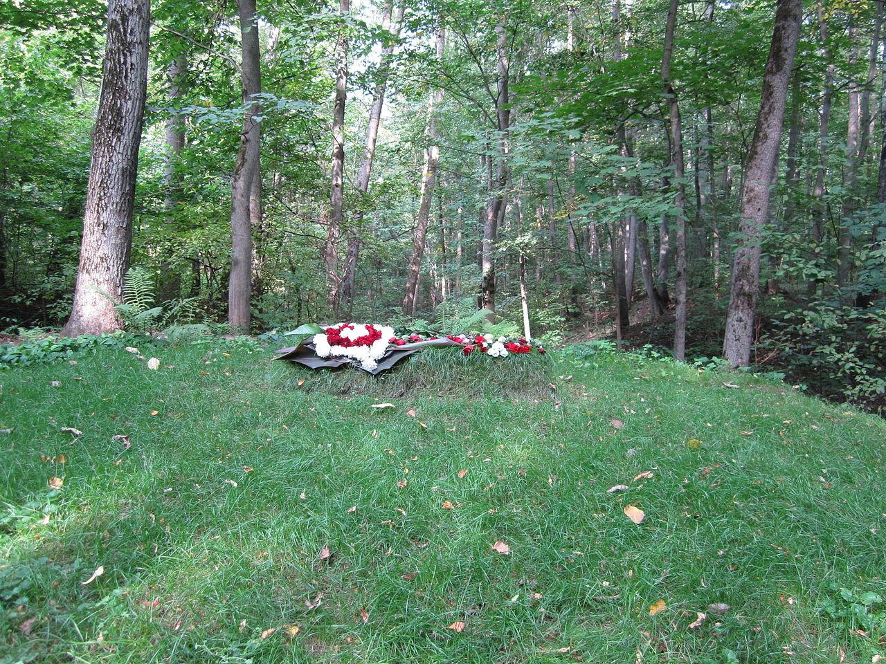 Tolstojev grob na posestvu Jasna Poljana