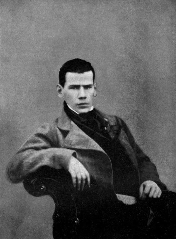 Tolstoj pri 20-ih, okoli leta 1848.