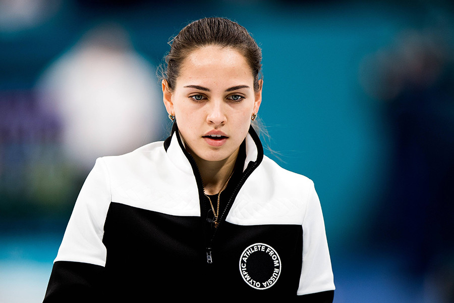 Check out Anastasia Bryzgalova, the Russian curler stealing hearts at the Winter Olympics ...