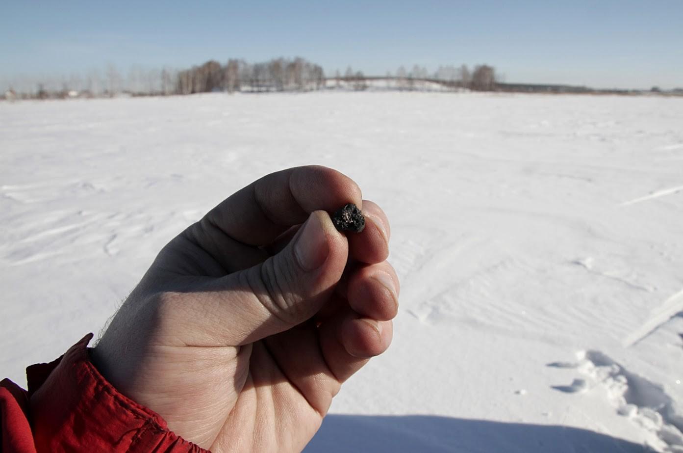 Delček meteorita na območju jezera Čebarkul, Čeljabinska regija