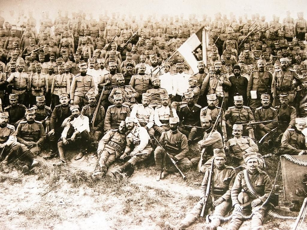 Српски војници на Крфу.