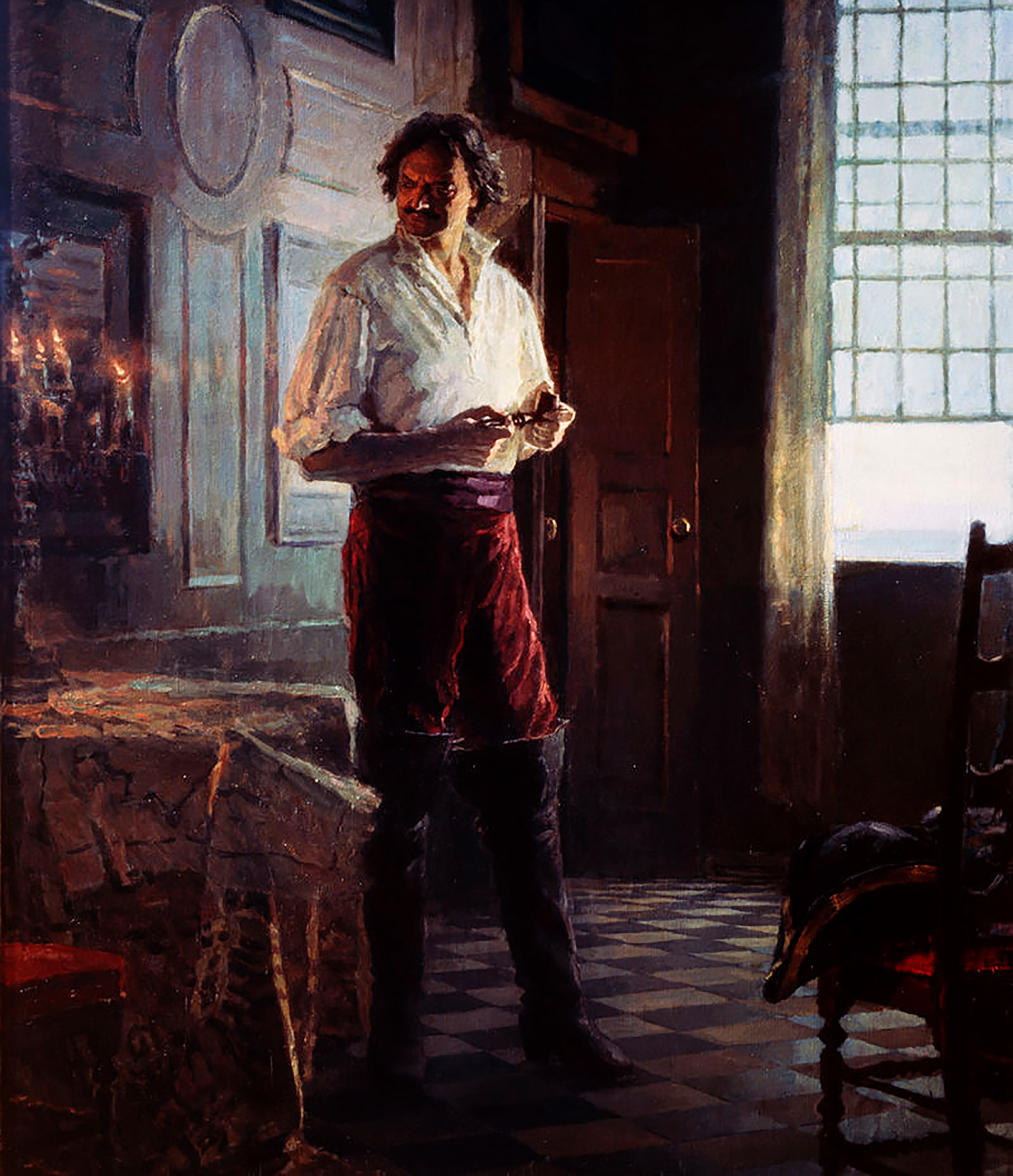 Peter I (Peter the Great), a painting by Sergei Kirillov.