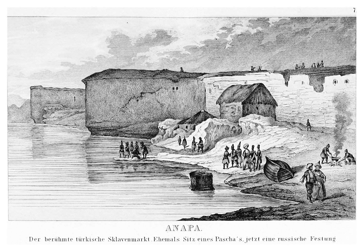 The Turkish fortress Anapa was known as a huge slave market