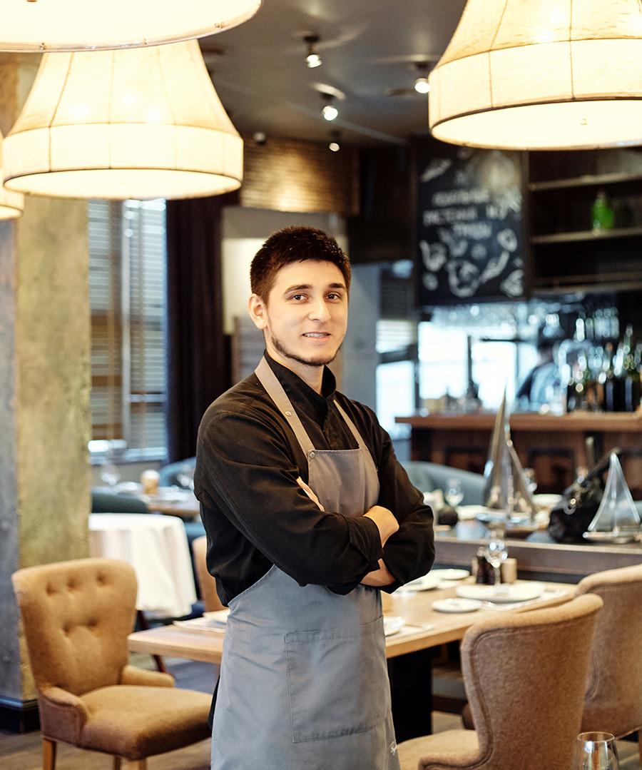 Valéri Poriadin, do restaurante Baran-Rapan, em Sochi