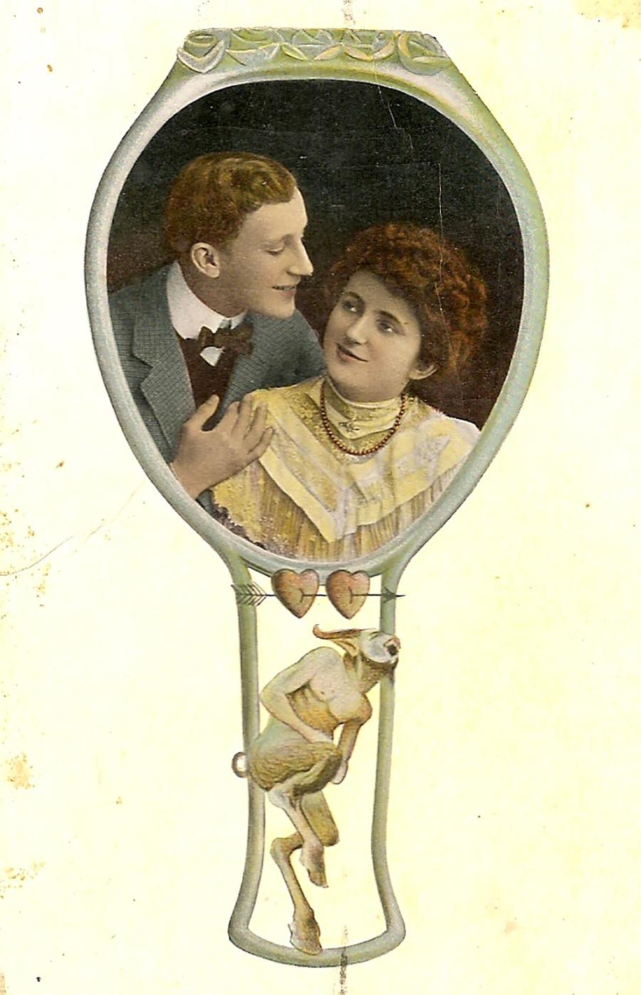 Открытием, старинные любовные открытки