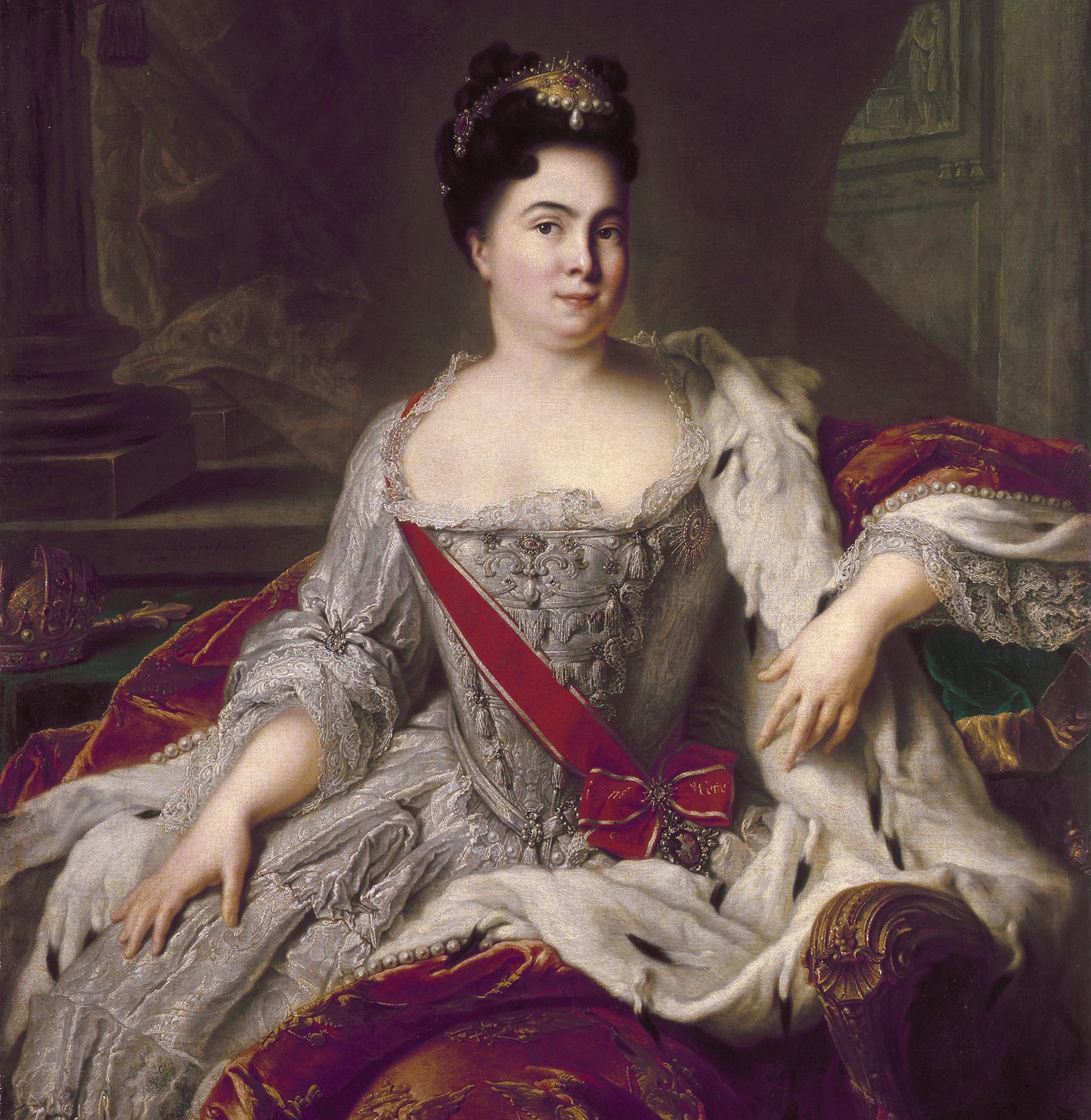 Portret Katarine I., slikar Jean-Marc Nattier.