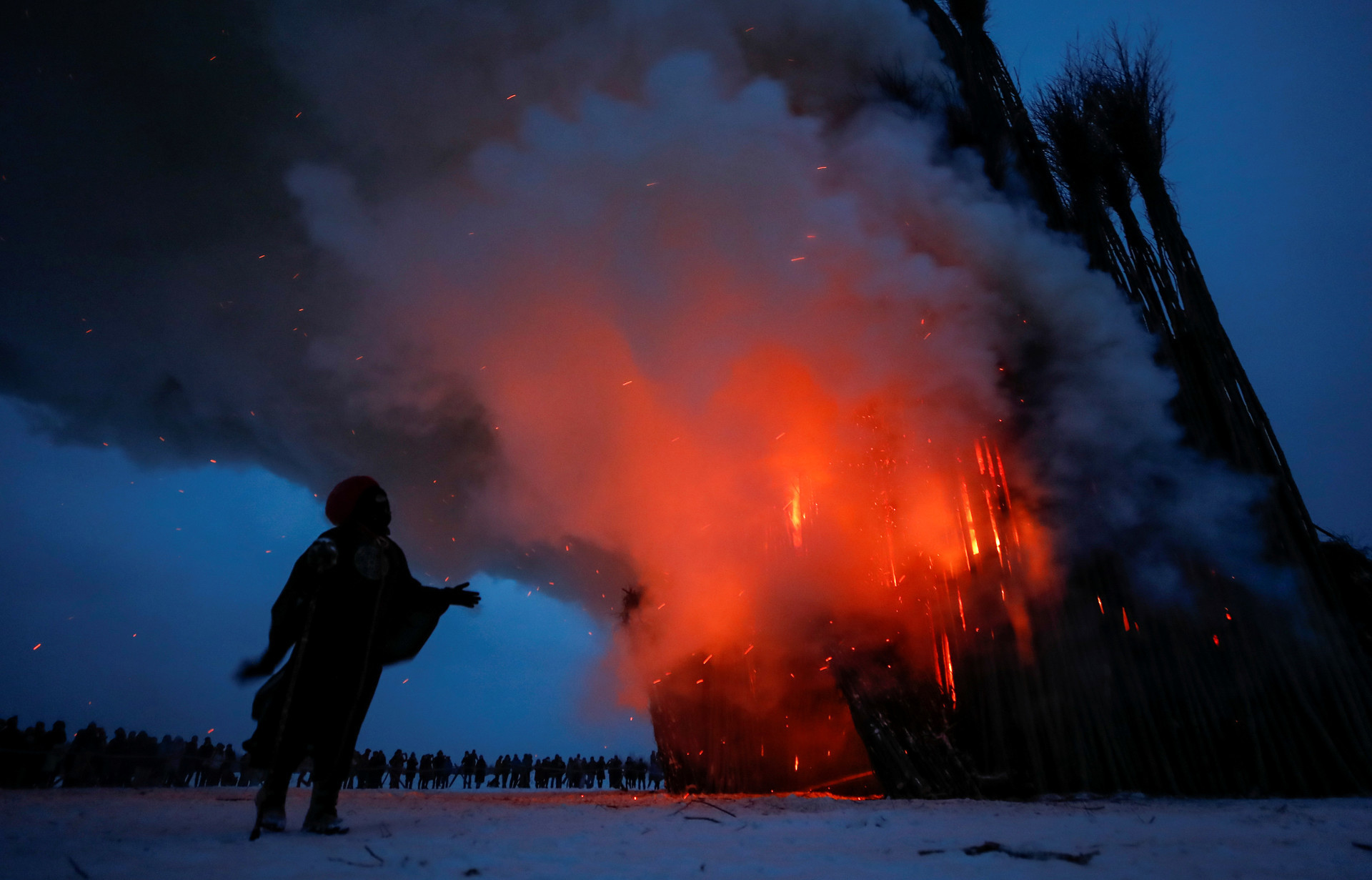 La catedral en llamas.