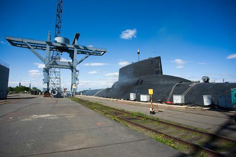 Podmornica Dmitrij Donski v Belomorski bazi v Severnodvinsku.