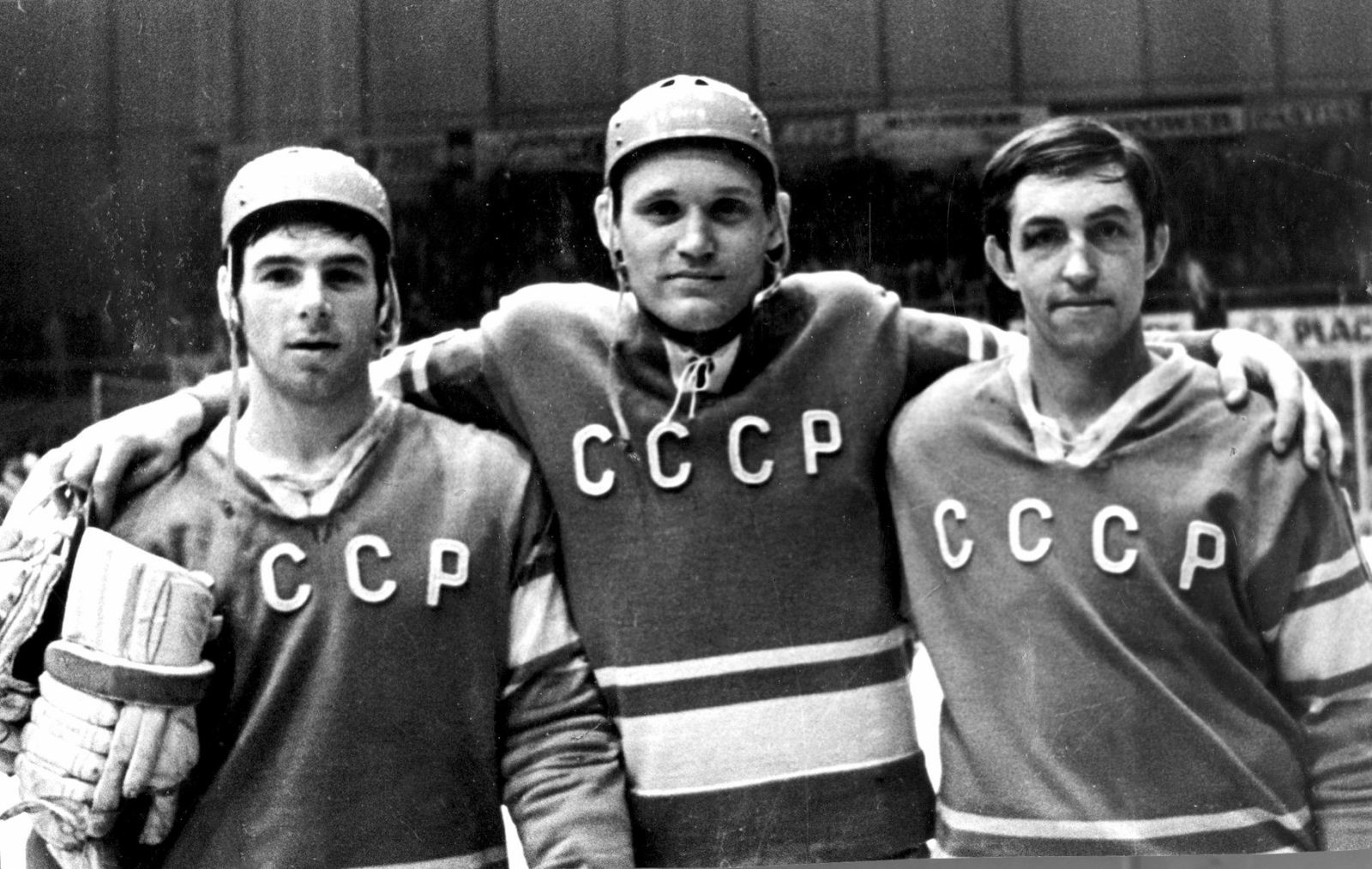 Valerij Harlamov, Vladimir Petrov, Boris Mihailov (z leve proti desni).
