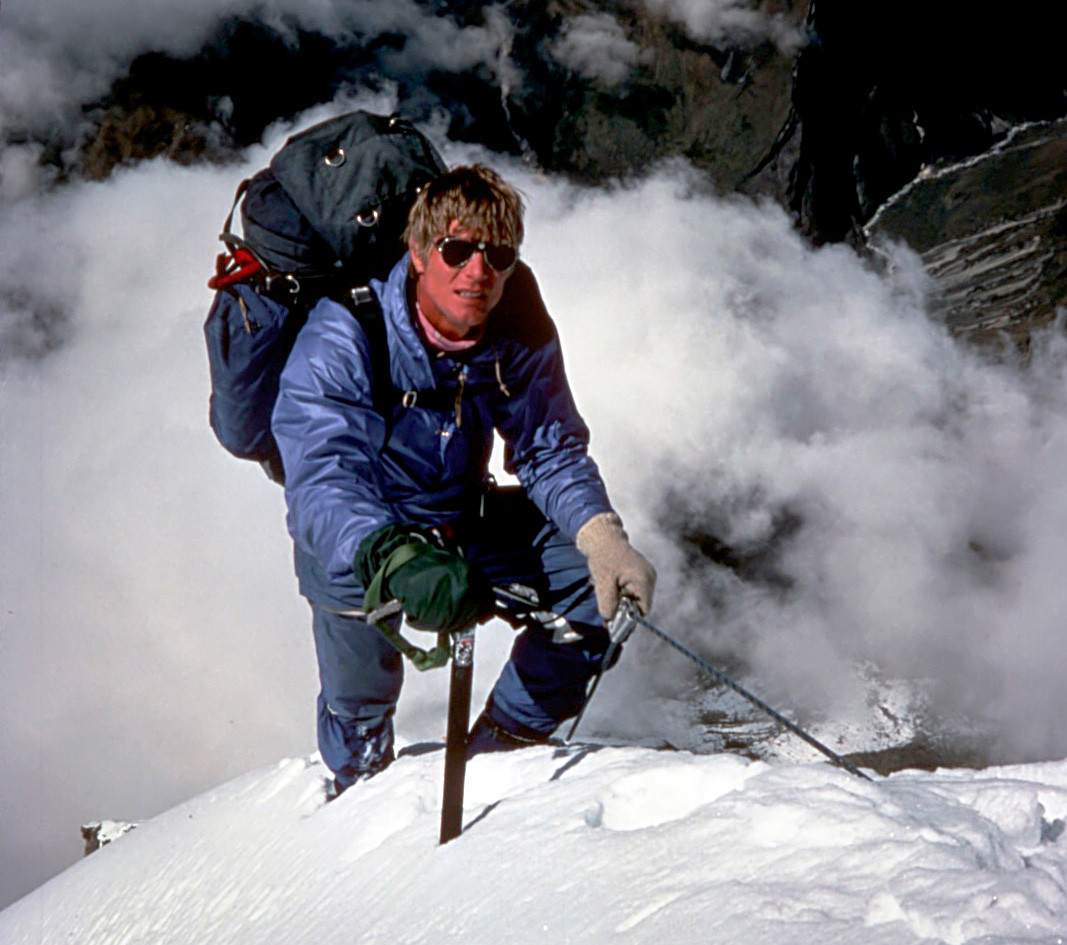 Scott Fischer on the Annapurna Fang (Varaha Shikhar) in 1984
