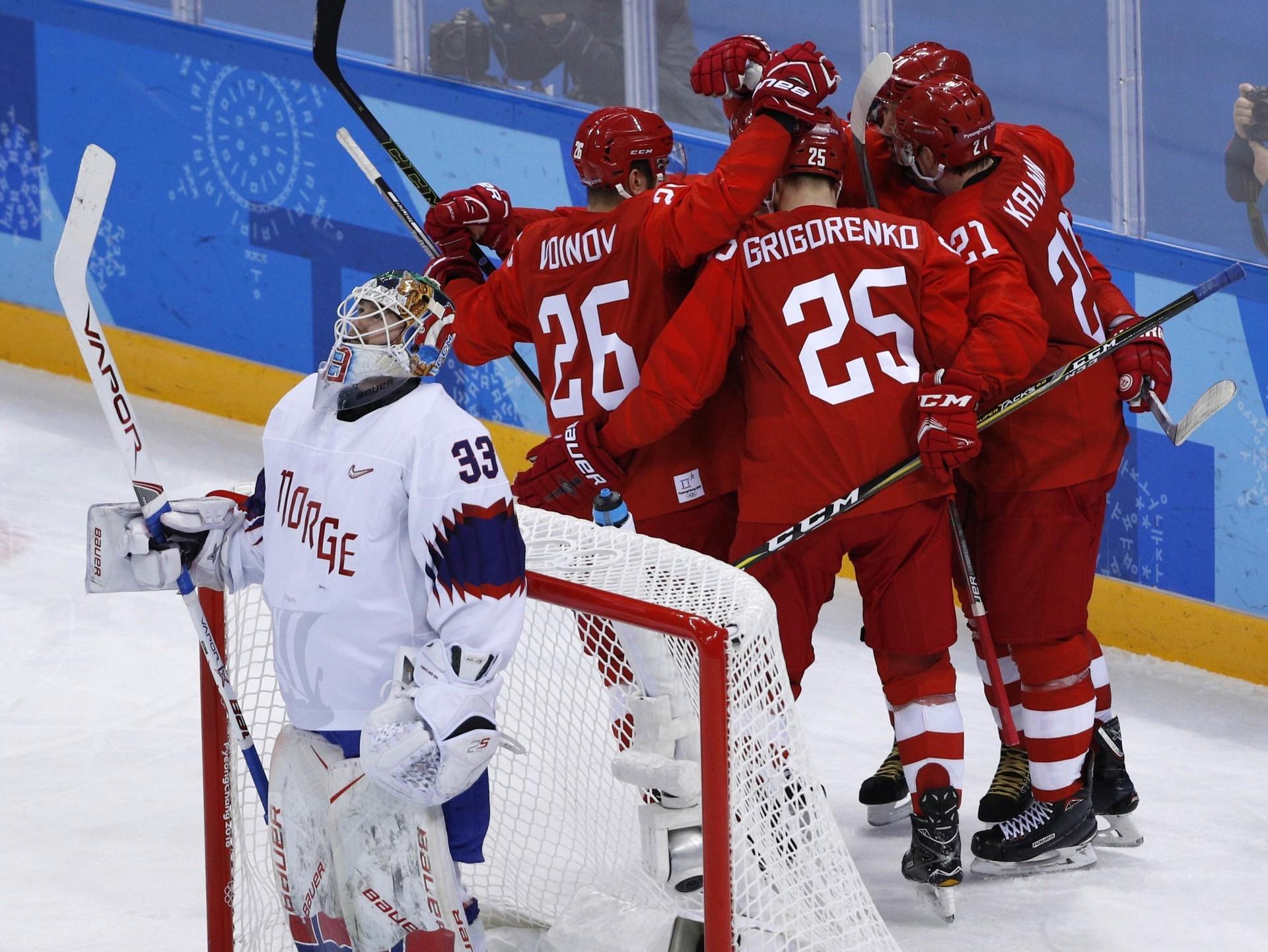 Les joueurs russes atteignent la finale en hockey masculin à Pyeongchang