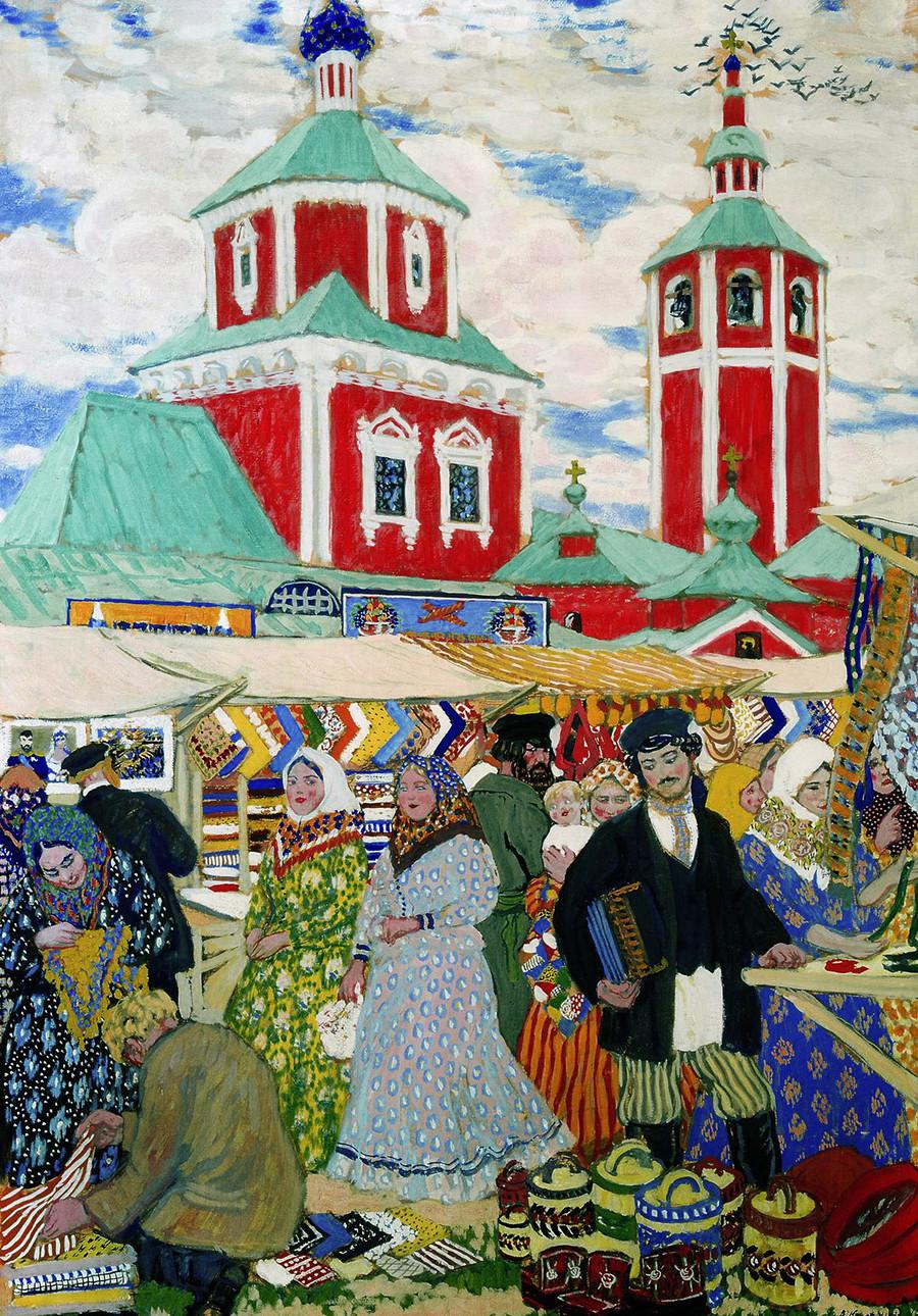 『市場』、1910年