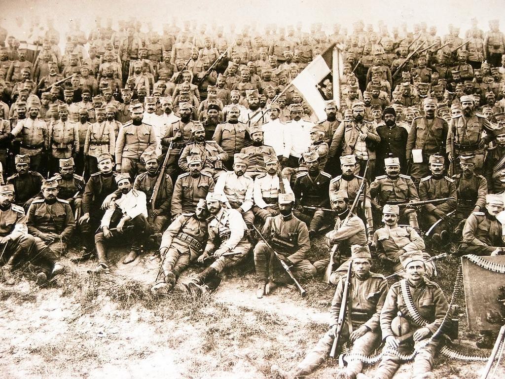 Српски војници на Крф.