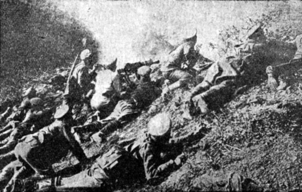 Бугарски војници на Солунскиот фронт.