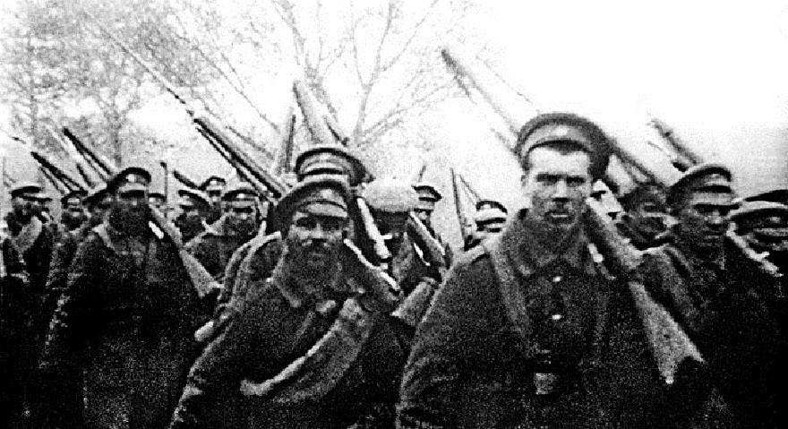 Руски војници за времето на Првата светска војна