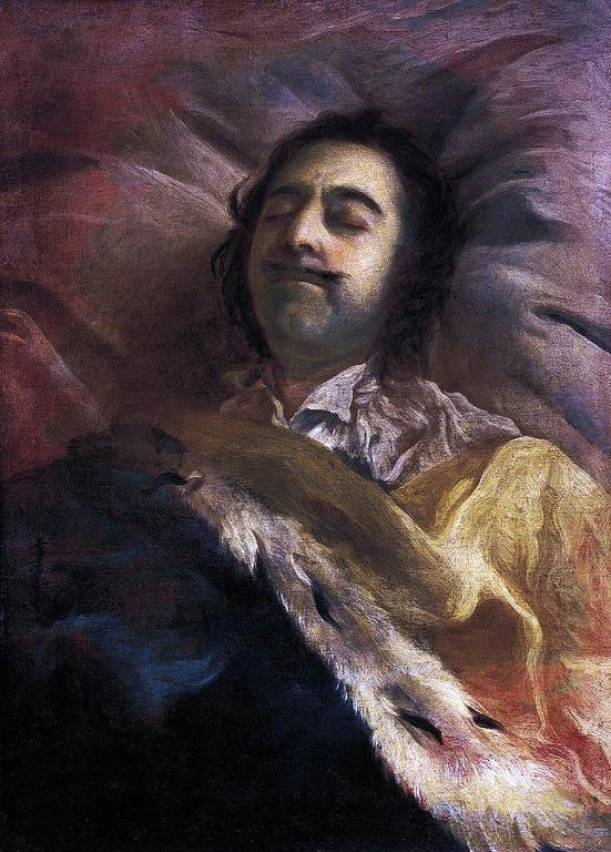 Ivan Nikitin, Pjotr I. na smrtni postelji.