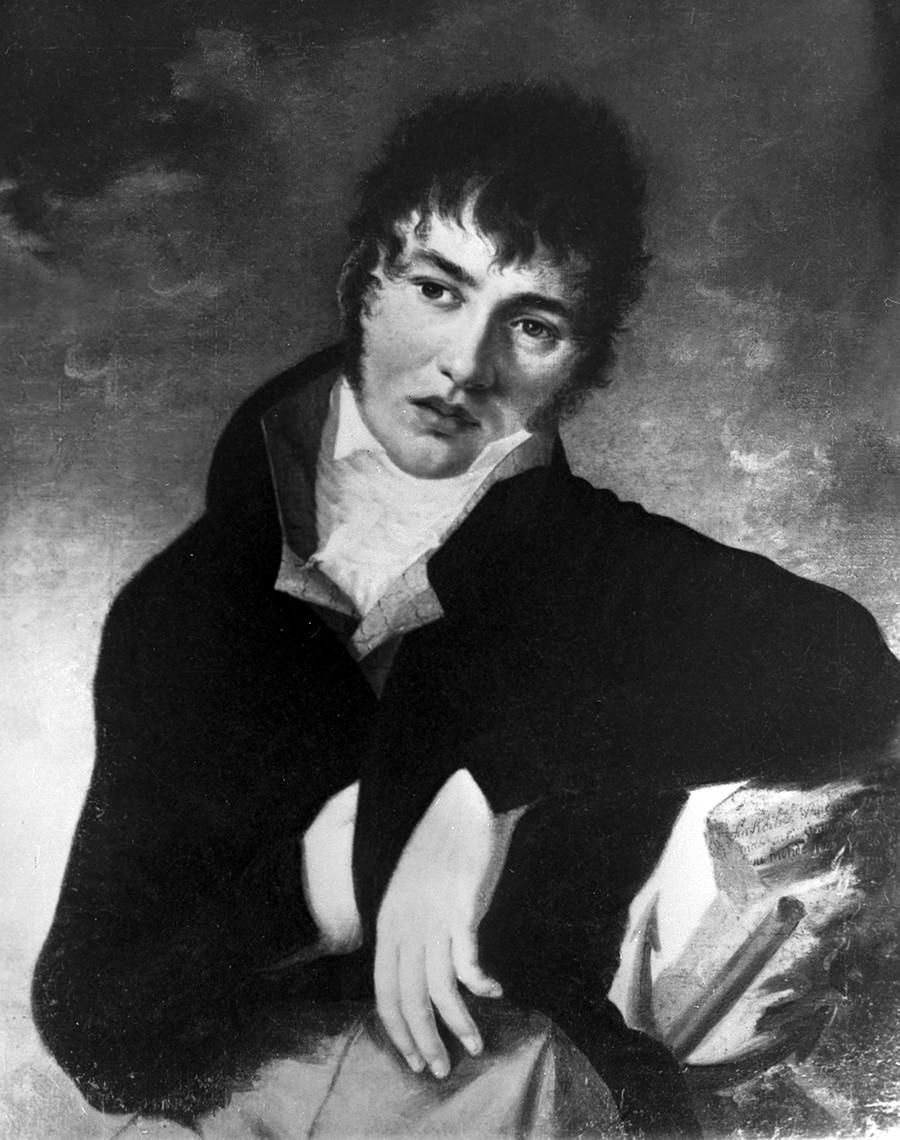 Репродукция на портрет на Фьодор Толстой, послужил за прототип на Долохов от
