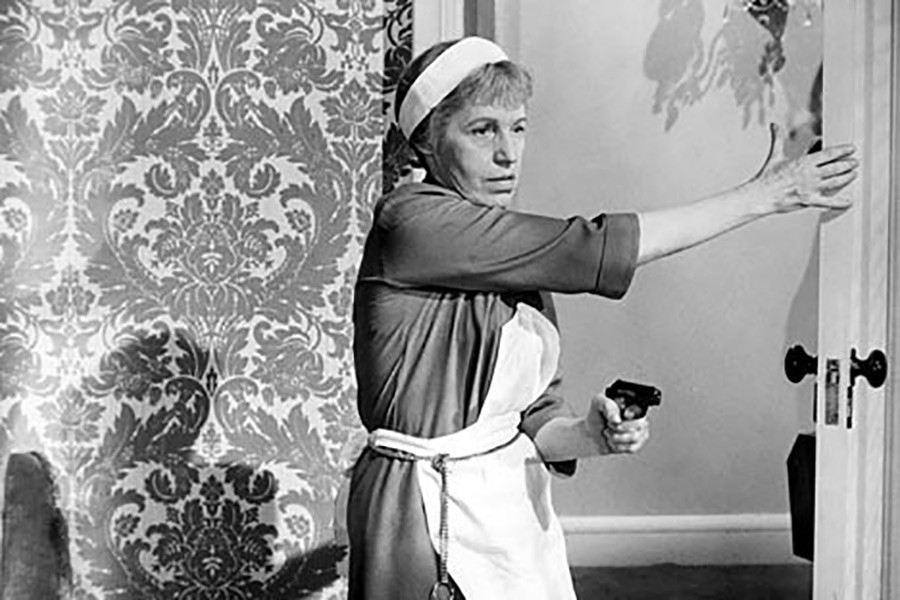 """The Austrian singer and actress Lotte Lenya stars Rosa Klebb in  the movie - """"From Russia with Love"""" (1963)."""