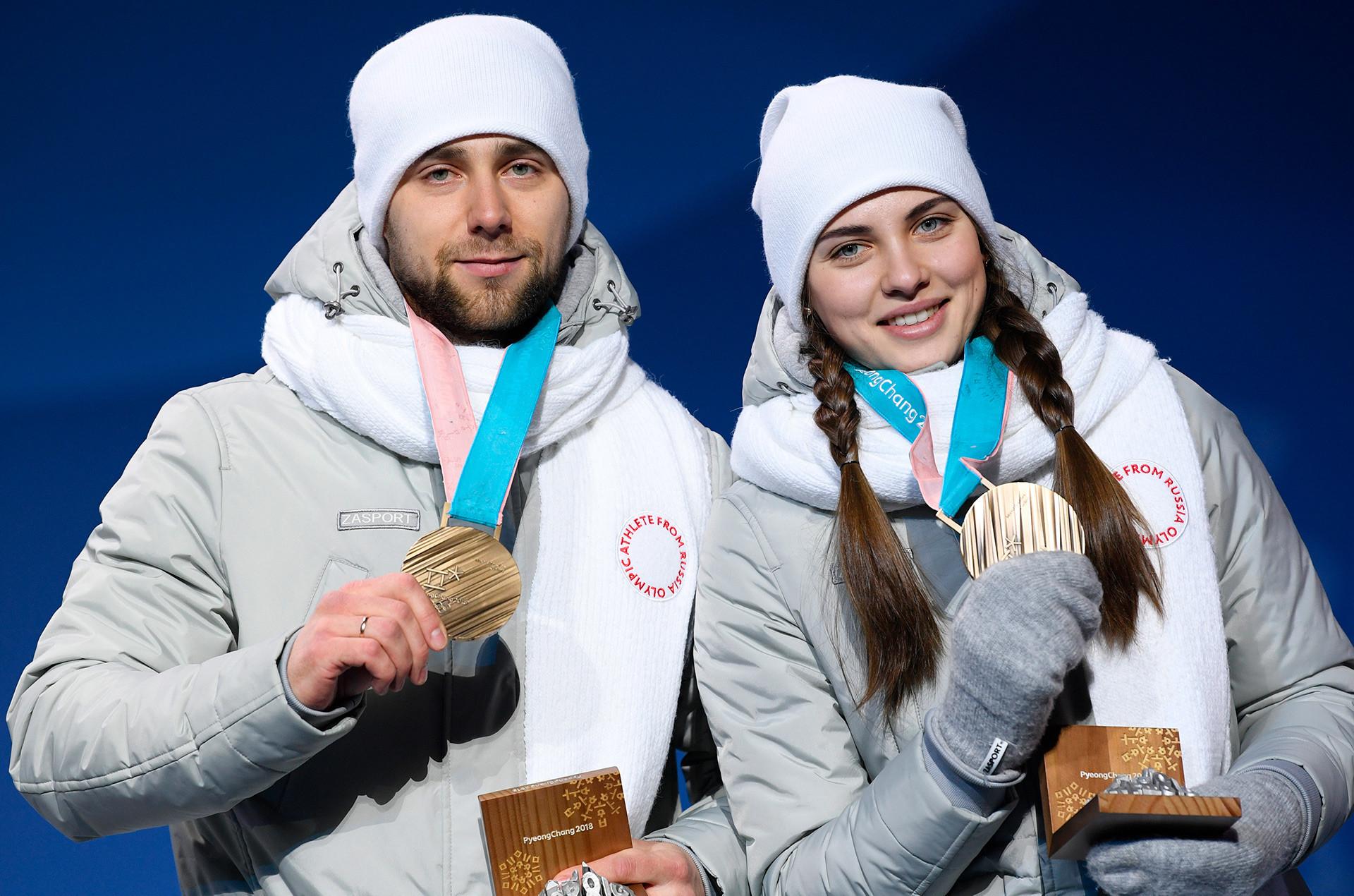Alexander Krushelnitski y Anastasia Bryzgalova