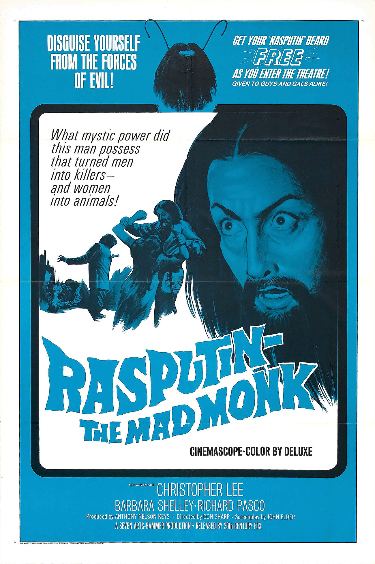 "Poster film ""Rasputin — The Mad Monk""."