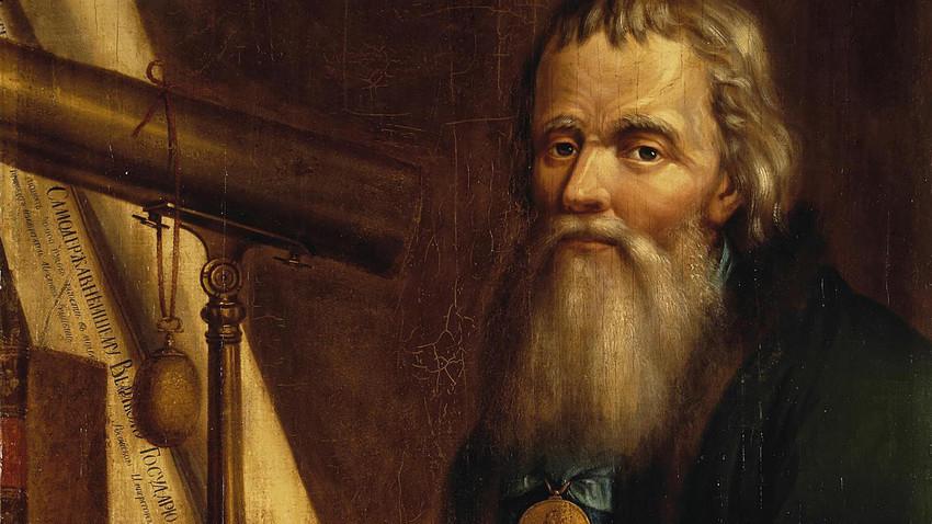 Retrato de Iván Kulibin, obra de Piotr Vedénetski.