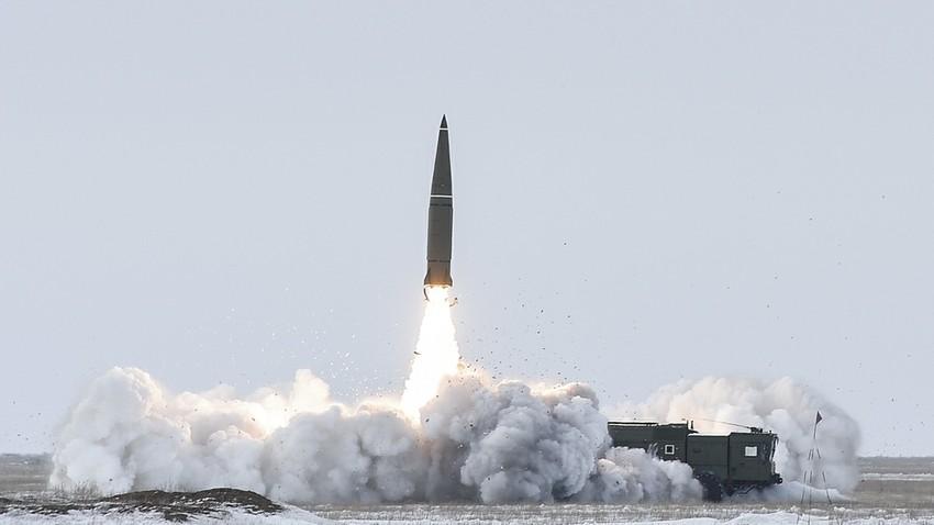 """""""Искандер-М"""", лансирање на полигону Капустин Јар, Астрахањска област, 5. март 2018."""