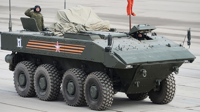 Bumerang armored personnel carrier at the Alabino training ground