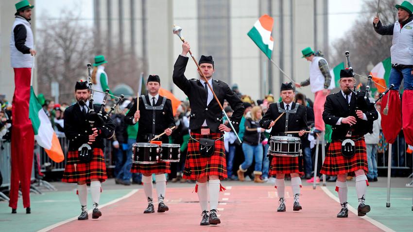 St. Patrick's Day parade in Sokolniki Park, Moscow
