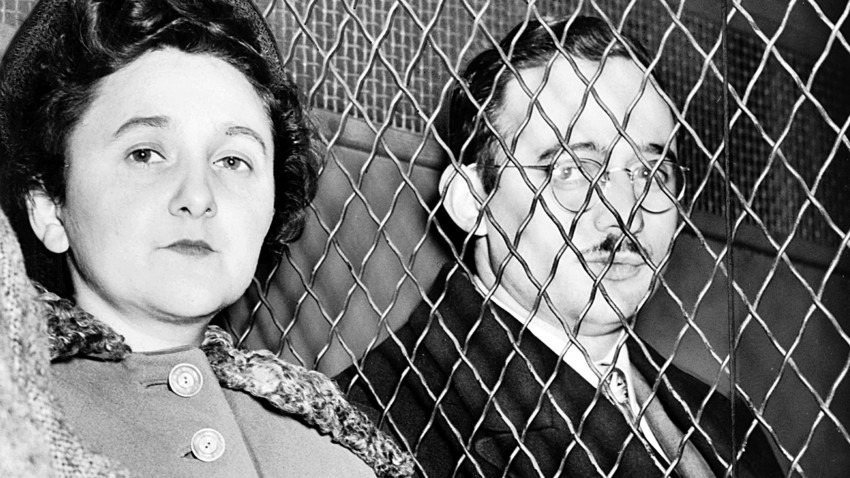 Julius and Ethel Rosenberg, American communists, executed after having been found guilty of conspiracy to commit espionage.