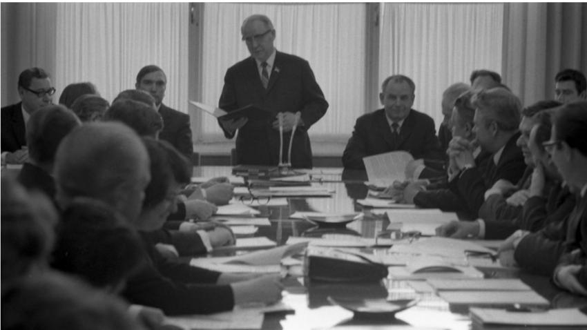 Sestanek državnega komiteja za radio in televizijo 1973.