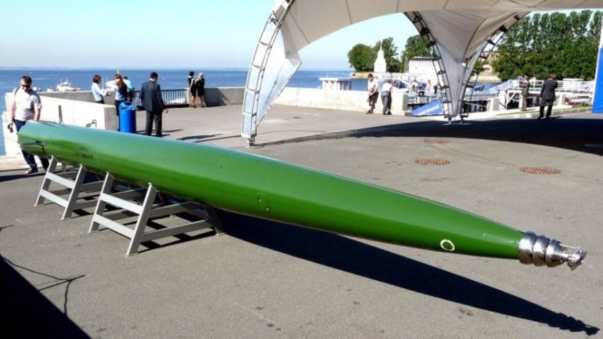 Torpedo Škval ruske izdelave.