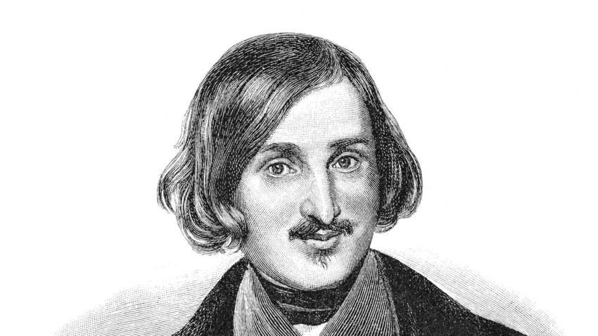 Nikolaj Vasiljevič Gogolj, ruski pisatelj ukrajinskega porekla, v portretu-ilustraciji iz 19. stoletja.