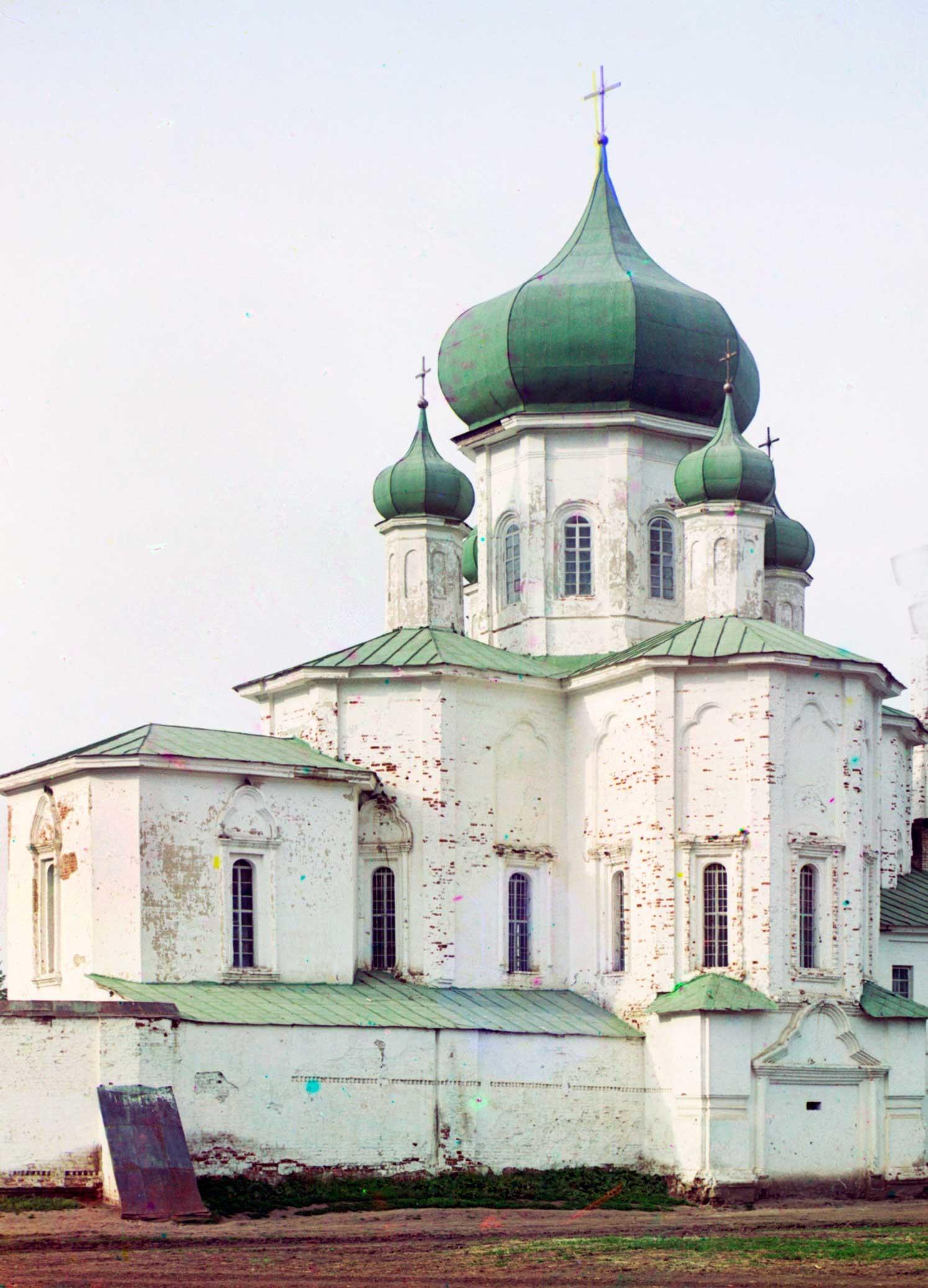 Monasterio de la Trinidad. Iglesia de los Santos Pedro y Pablo, vista suroeste. Junio de 1912.