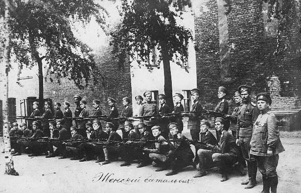 Prvi petrograjski ženski bataljon smrti, 1917.