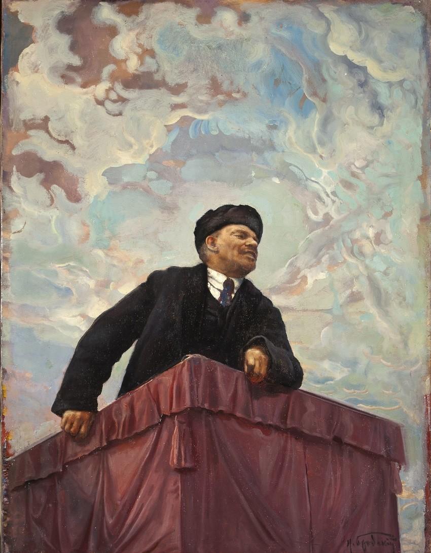 'V. I. Lenin en la tribuna' (1927), obra de Isaac Brodski.