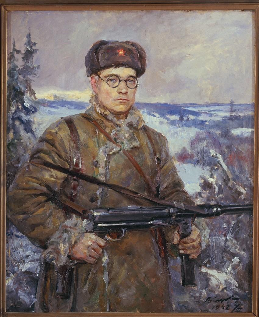 'Retrato del capitán del escuadrón de la guerrilla D. I. Vlásov' (1942), obra de Vladímir Serov.