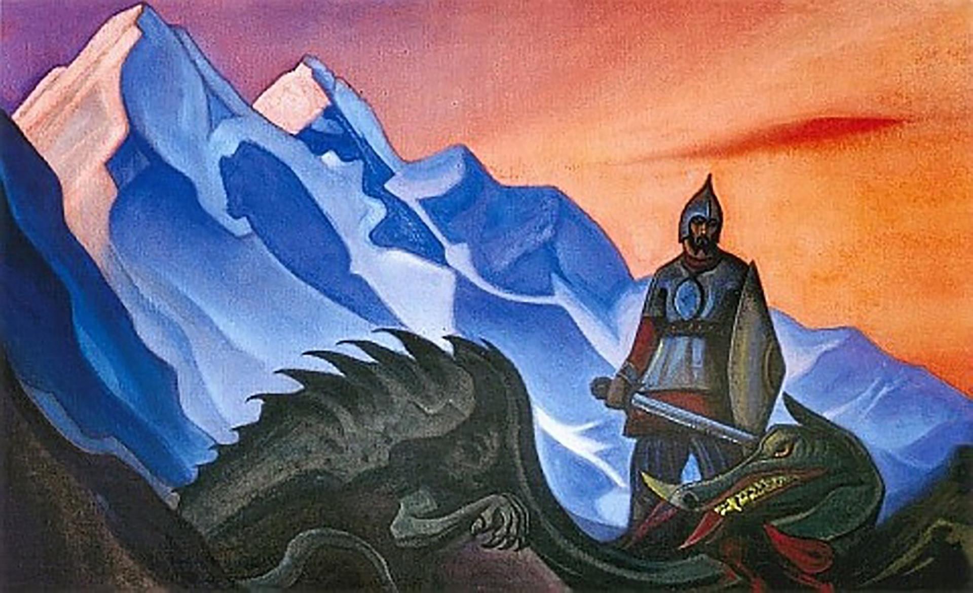 "Lukisan ""The Win"" oleh Nikolai Rerikh."