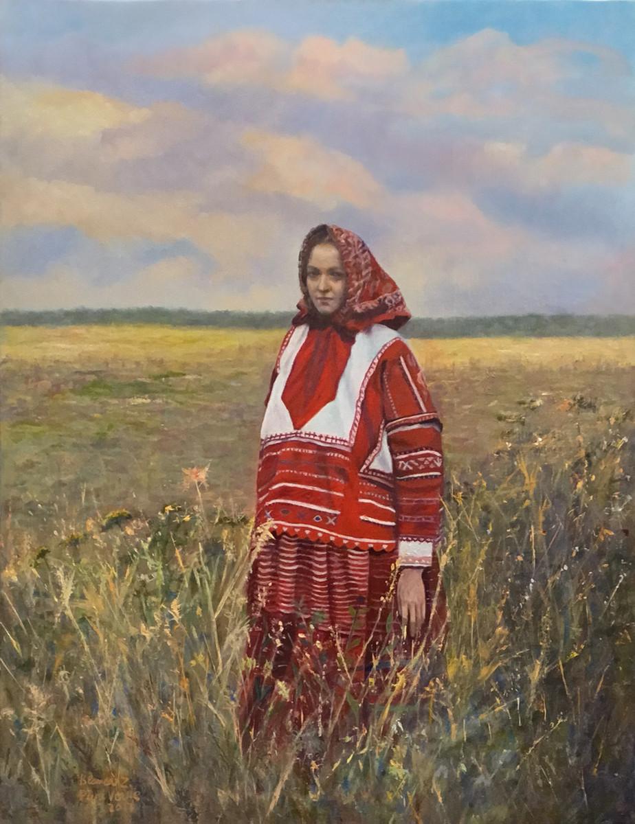 """""""La campesina"""", Blanca Zumárraga (con la colaboración de Puri Verde)."""