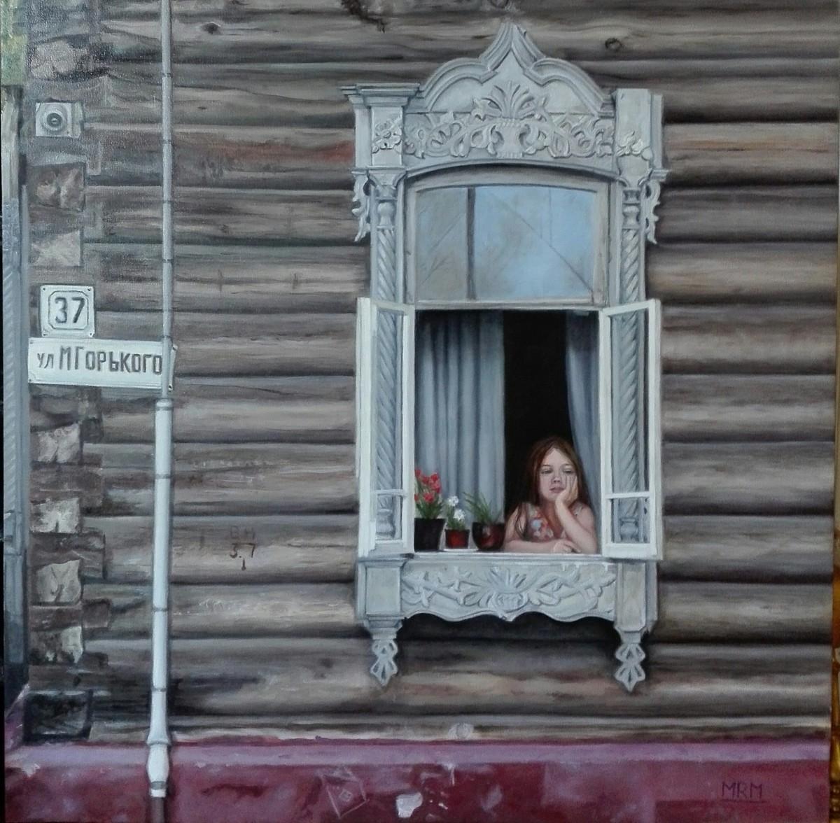 """""""En la ventana"""", María Ramos de Molins."""
