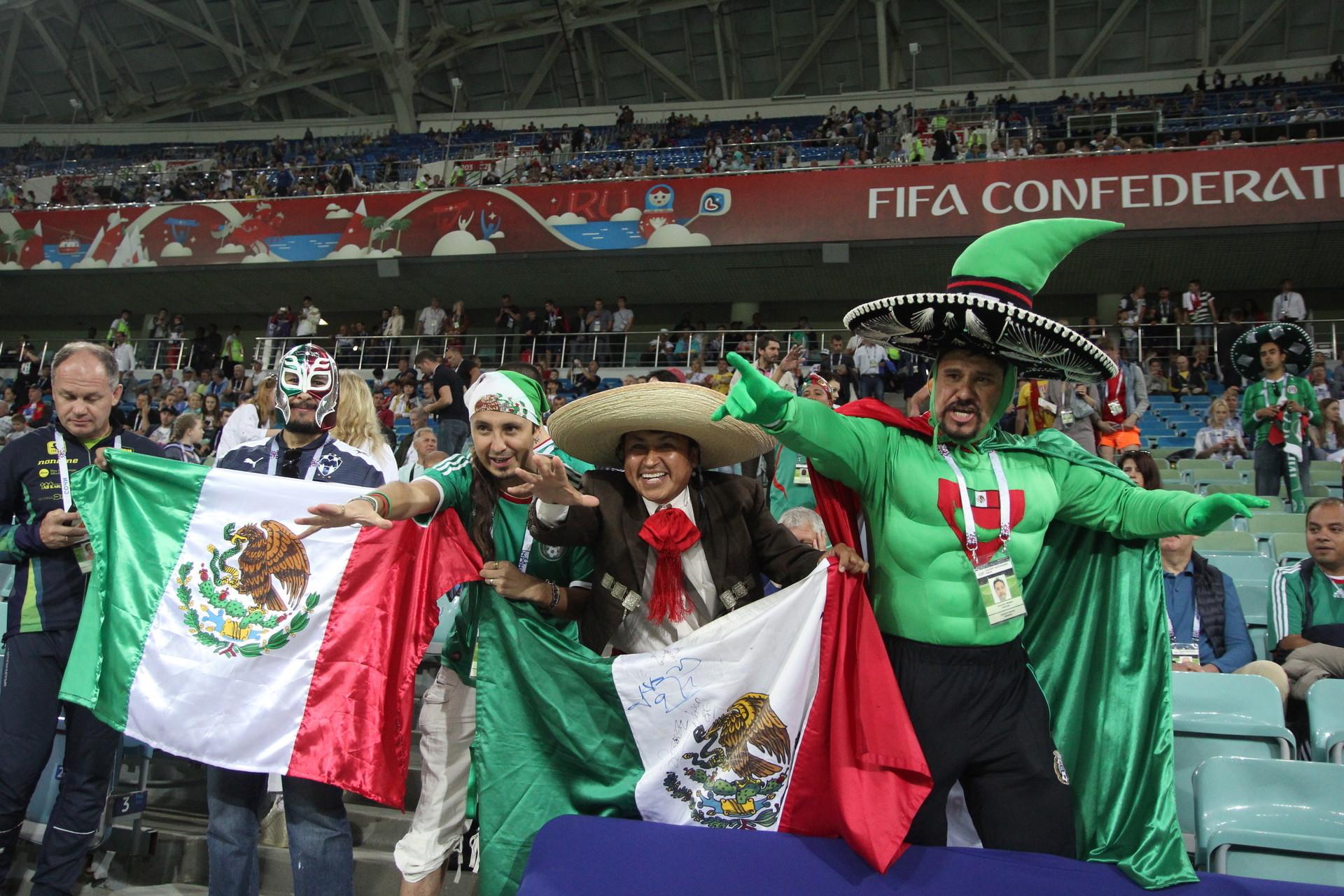 Torcedores mexicanos na Copa das Confederações 2017