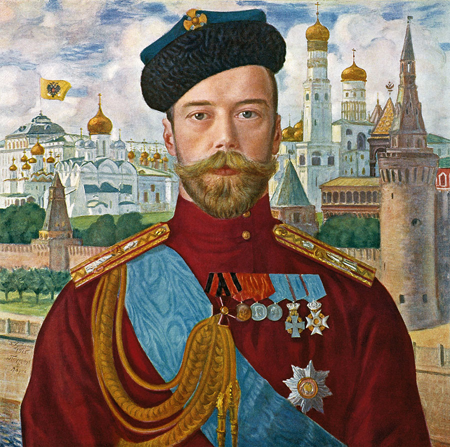 Porträt des Zaren Nikolai II., 1915