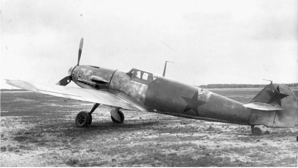Zajet Messerschmitt Bf 109.