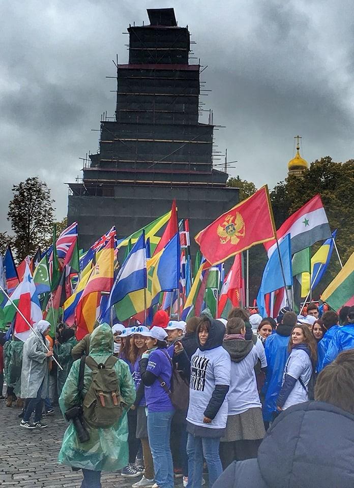 Учесници Фестивала на излету у Москви.