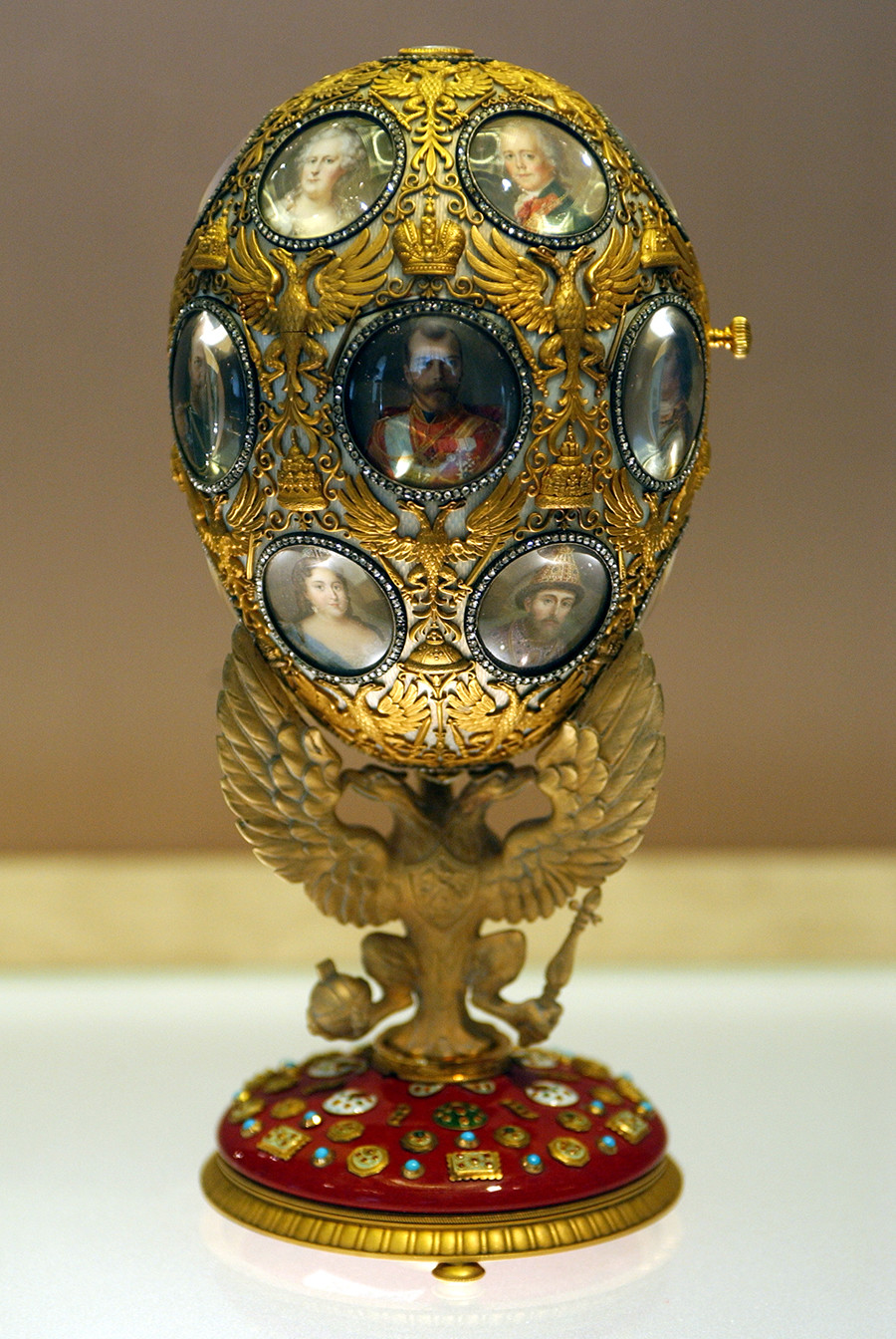 Faberge is renowned for the fabulous jeweled Easter eggs he created for the Russian royal family