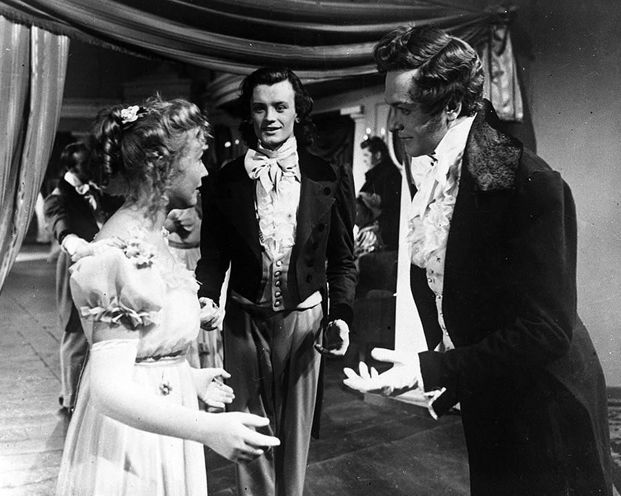 A scene from the film-opera Eugene Onegin (Lenfilm, 1958).
