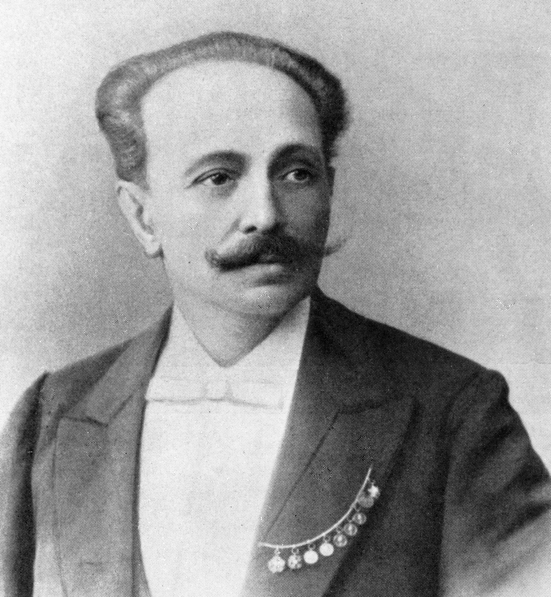 Russian artist, ballet master Marius Petipa, 1878.